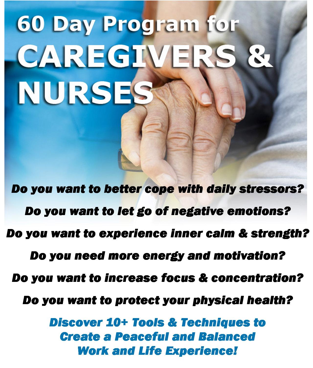 Caregivers and Nurses Program for Stress Reduction