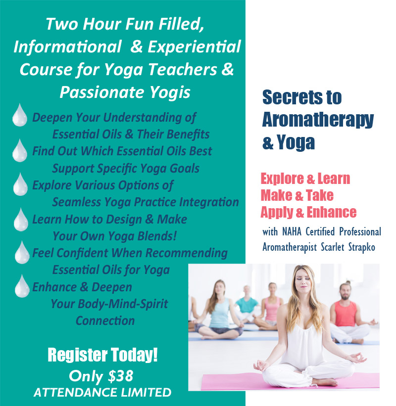 Aromatherapy Course for Yoga Teachers and Yogis