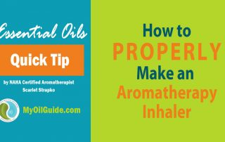 Essential Oil Inhaler How-to